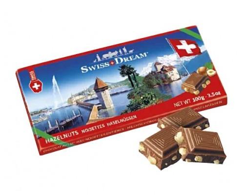 Шоколад молочный  Goldkenn  с цельным фундуком 100гр