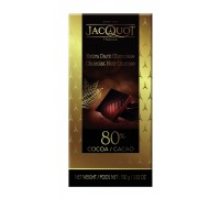 Шоколад горький  JACQUOT 80% 100гр
