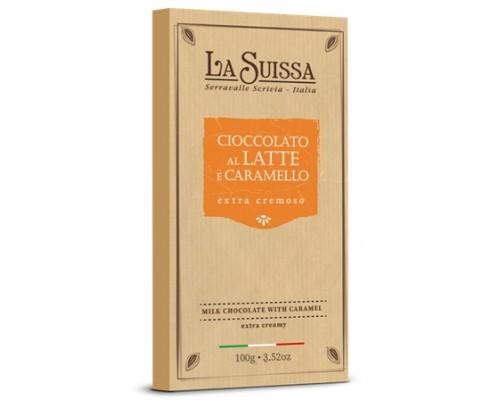 Шоколад Молочный LA SUISSA с карамелью 100гр