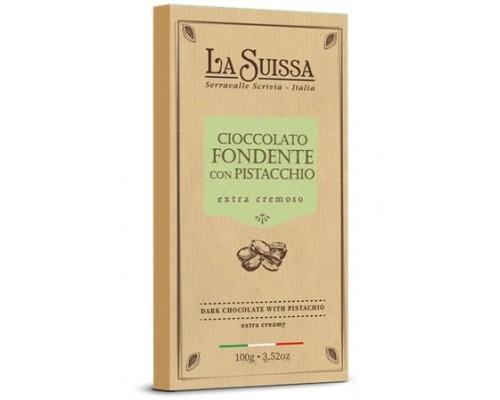 Шоколад Темный LA SUISSA 52% с фисташковым кремом 100гр
