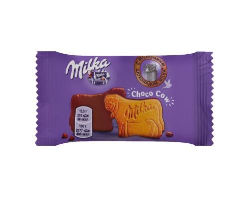 Печенье Milka Choco Cow  в молочном шоколаде из альпийского молока 40 гр[1/24шт]