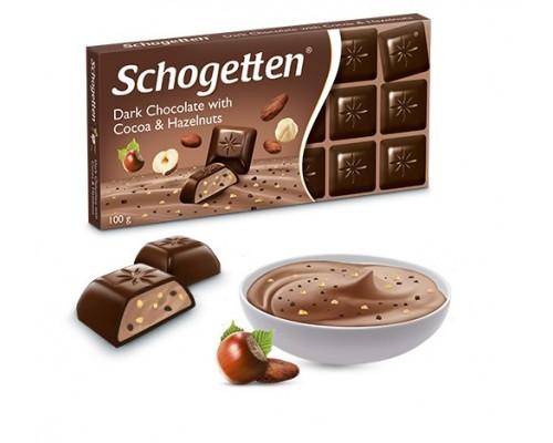 Шоколад Schogetten Темный с какао и лесными орехами 100гр