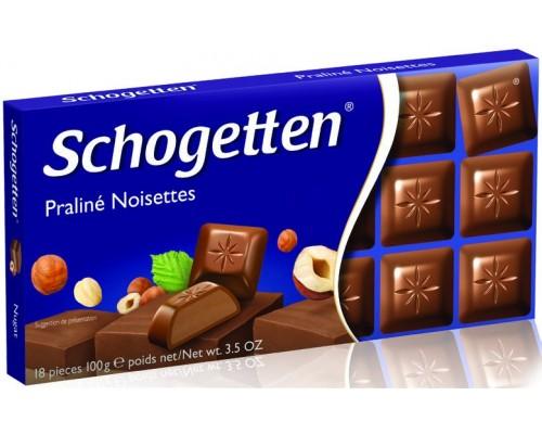 Шоколад Schogetten Ореховое пралине молочный 100гр