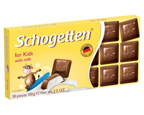 Шоколад Schogetten For Kids Альпийский молочный шоколад с о сливочной начинкой 100гр