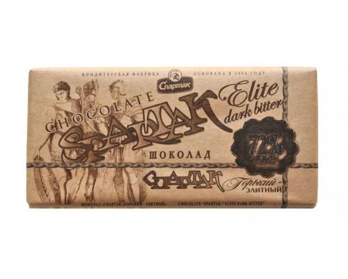 "СПАРТАК  Шоколад""Горький-элитный"" 72%, эт.крафт 90г"