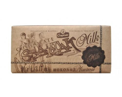 """СПАРТАК Шоколад  """"Молочный"""", эт.крафт 90г"""