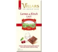Шоколад Швейцарский Villars Молочный с вишнёвым бренди 100 гр