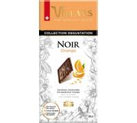 Шоколад Швейцарский Villars Тёмный с апельсиновыми цукатами 100гр