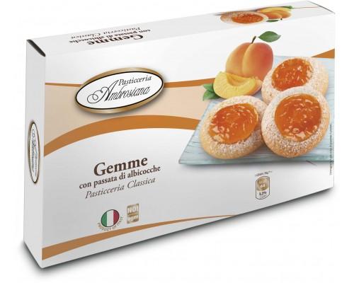 """Амброзиана Печенье   """"Джемме"""" с абрикосовой начинкой (Gemme di albicocche) 150г"""