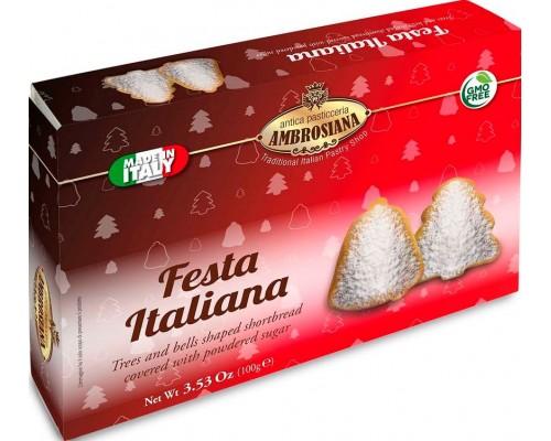 """Печенье Ambrosiana """"Festa Bianca""""  в сахарной обсыпке 100 гр"""