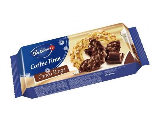 Бальзен Кофи Тайм Шоко Рингс Печенье с сахаром и молочным шоколадом 155гр