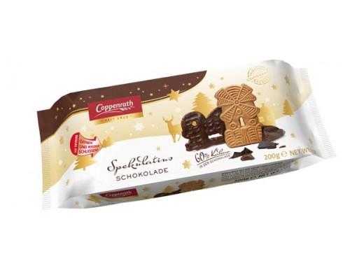 Coppenrath Печенье  полупокрытое  темным шоколадом 200гр