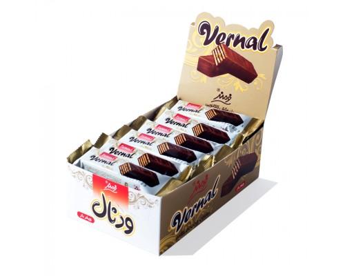 Вафли Farmand Vernal в шоколадной глазури 20гр.   [1/24шт]