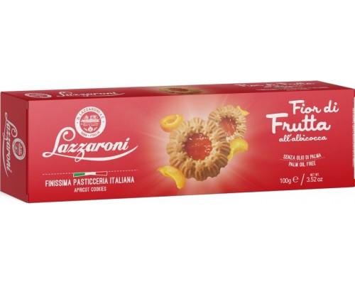 """Печенье Lazzaroni """"FIOR di FRUTTA"""" с начинкой из абрикоса 100гр"""