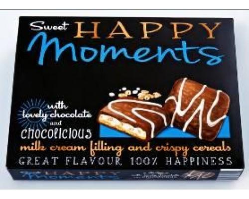 """Нора Печенье с молоч.кремом и хруст.злаками в мол.и белом шок.""""Happy Moments Cerealc""""150г"""