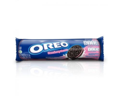 Печенье Oreo с клубничным кремом 133 гр