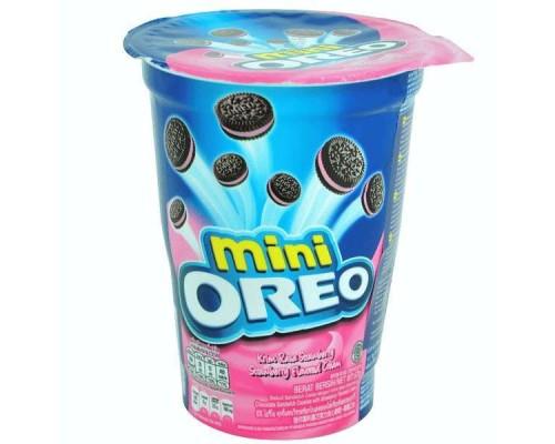 Печенье Oreo мини с клубничным кремом 67 гр