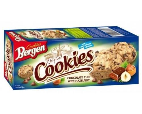 Берген Печенье Cookies с Шоколадом и лесным орехом 135гр