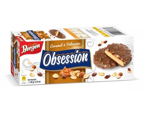 Печенье Берген Obsession с Карамелью 140гр