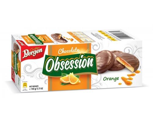 Печенье Bergen Obsession с  Апельсином 145гр