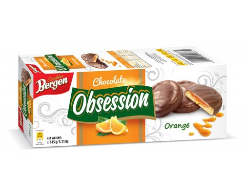 Берген Печенье Obsession с  Апельсином 145гр