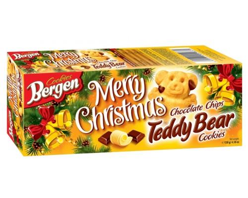 Печенье Bergen  Teddy Bear с шоколадной крошкой 130гр