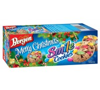 Печенье Bergen Печенье Bergen Smile Cookies с кусочками шоколада и драже 135гр