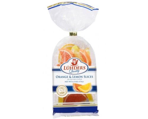 Людерс Мармелад  Апельсиновые и Лимонные дольки 175гр