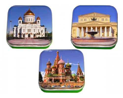 Монпансье Виды Москвы квадратная коробка 60г[1/24шт]