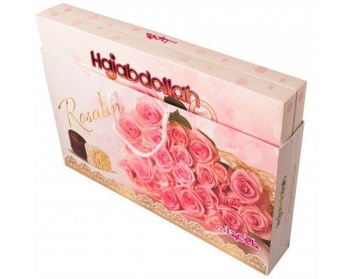 Конфеты халва царская в белой и шоколадной глазури Розовые Розы со вкусом ванили, кофе и имбиря 300г (в подарочной сумочке)