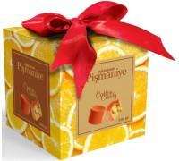 Конфеты из пишмание со вкусом апельсина во  фруктовой глазури 300гр куб