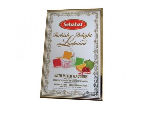"Себахат Рахат-лукум ""фруктовое ассорти"" (со вкусом граната, яблока, апельсина) 250г"