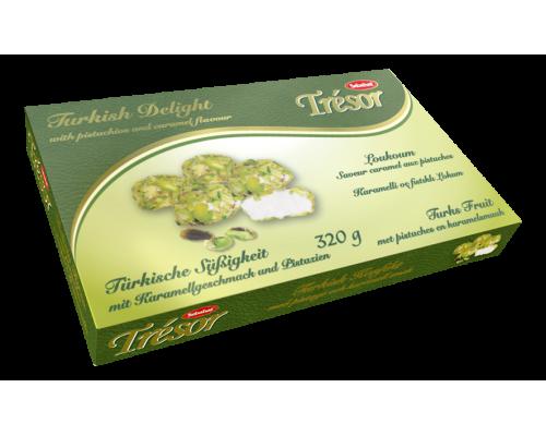 Себахат Рахат-лукумсо вкусом карамели и фисташками (Tresor)  320г