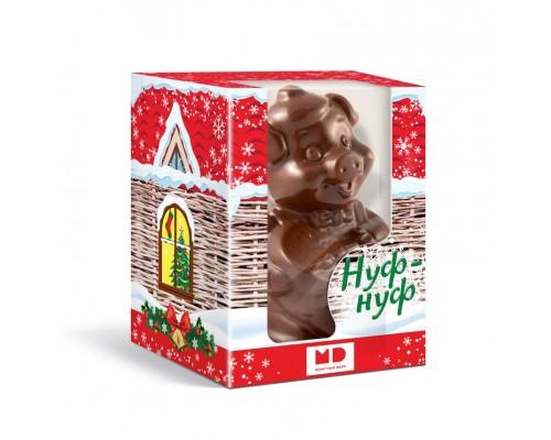 Три поросенка шоколадная фигурка  в подарочной коробке с окошком, 100г[1/12шт]