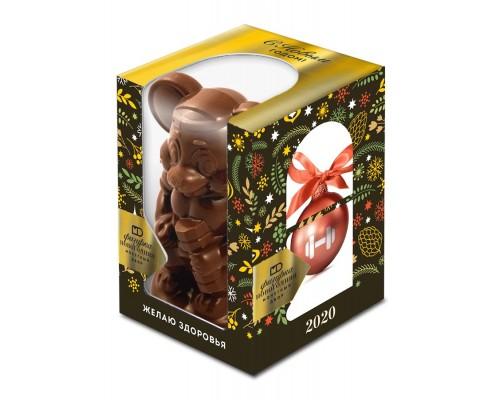 """Шоколадная фигурка """"Три желания"""" подарочной коробке с окошком 100гр[1/12шт]"""