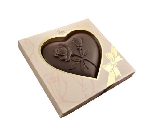 СЕРДЦЕ  шоколадная фигурка 100гр[1/12шт]