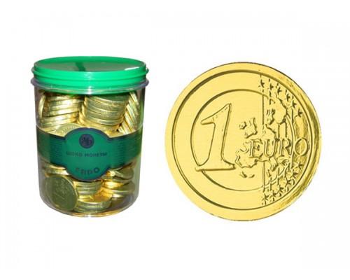 ЕВРО монеты шоколадные  6гр[1/120шт]