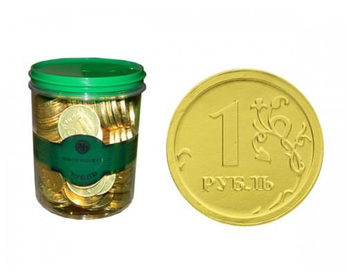 РУБЛЬ монеты шоколадные  6гр[1/120шт]