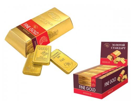 Слитки Золотой Стандарт набор шоколадок (6шт по 10гр)  60гр[1/16шт]