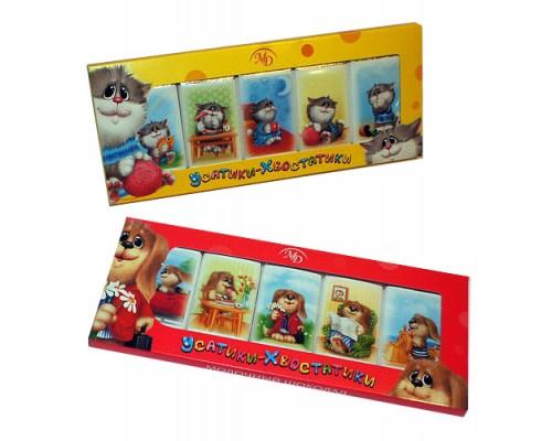 Усатики-Хвостатики - набор мини шоколадок  60гр /12шт