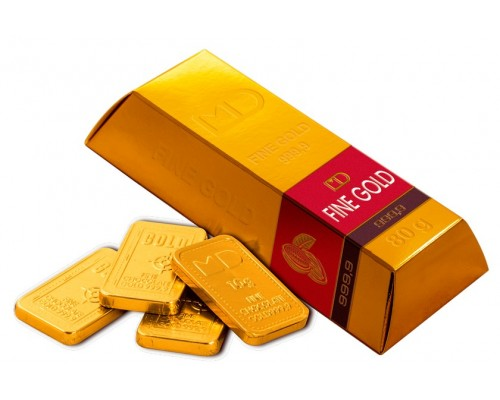 Слитки Золотой Стандарт набор шоколадок (8шт по 10гр)  80гр