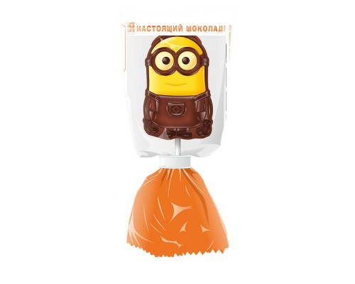 МОК Миньоны молочный шоколад на палочке с печеньем, 24гр.[1/24шт]