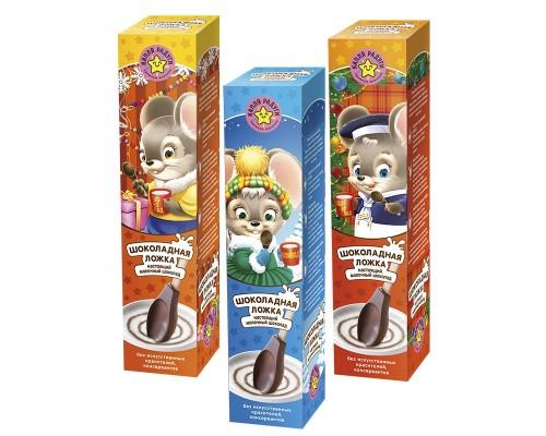 Шоколадная Ложка МОК Мышка молочный шоколад, 25гр.
