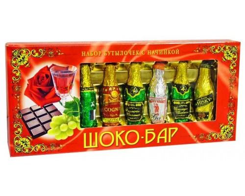 Набор шоколадных бутылочек Шоко-Бар с начинкой 85гр