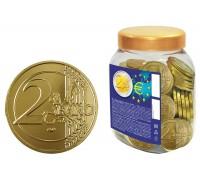Шоколадные монеты 2 Евро 6гр