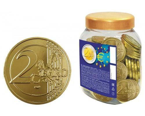Шоколадные монеты 2 Евро 6гр [1/100шт]