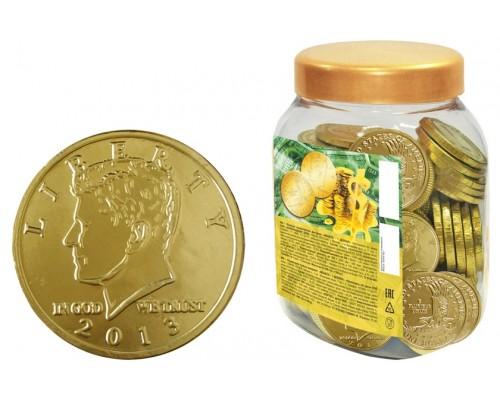 Шоколадные монеты 1 ДОЛЛАР 6гр [1/100шт]