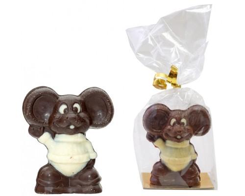Шоколадная фигурка  из бельгийского шоколада МЫШАСТИК 40гр[1/9шт]