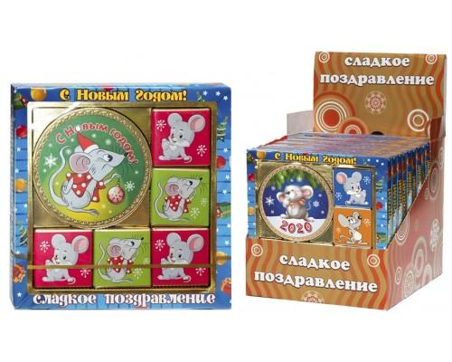 Набор из медали и мини шоколадок ЗАБАВНЫЙ МЫШОНОК 50гр