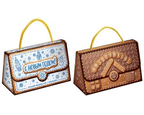 КЛАТЧ НОВОГОДНИЙ набор мини шоколадок с миндалем 75гр